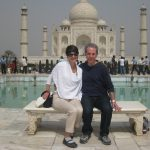 Steve and I at the Taj Mahal