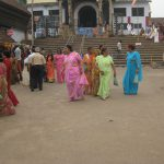 Indian women around Hindu temple
