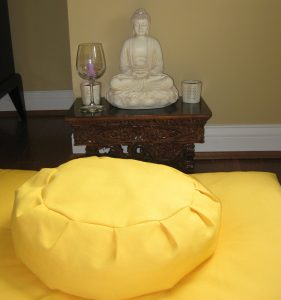 Yellow Zafu Buddha Wine